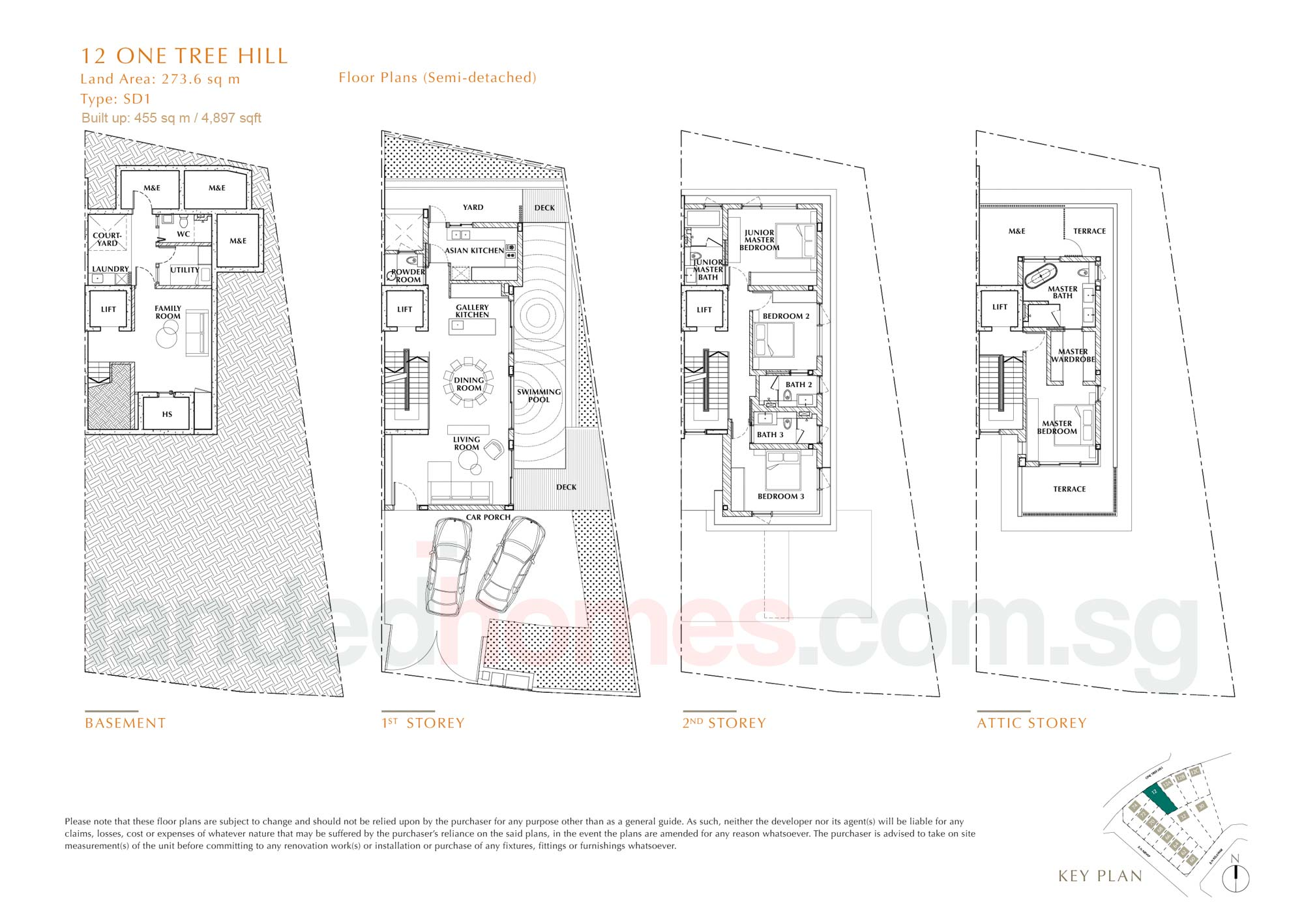 House 12 One Tree Hill Collection floor plan