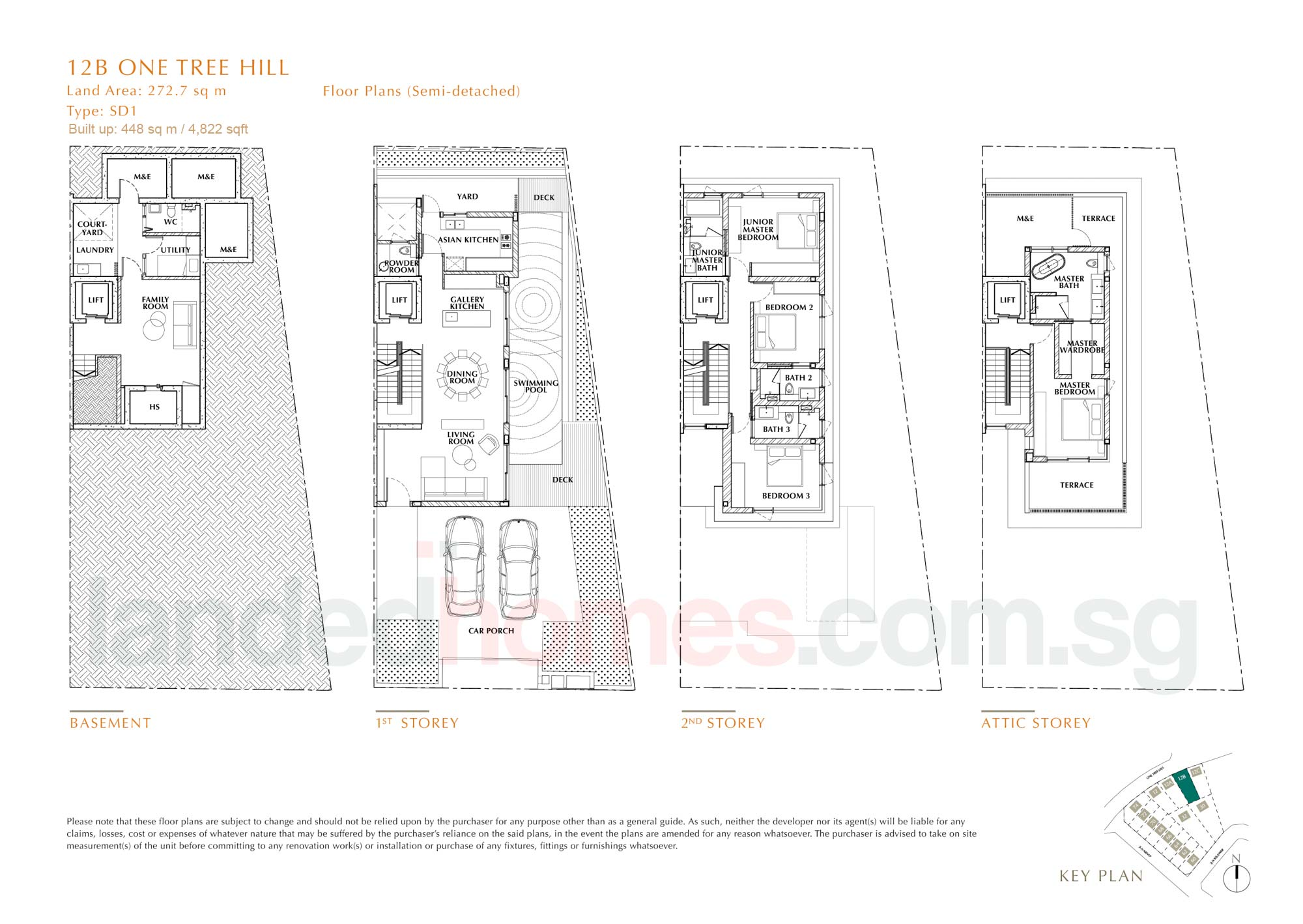 House 12B One Tree Hill Collection floor plan