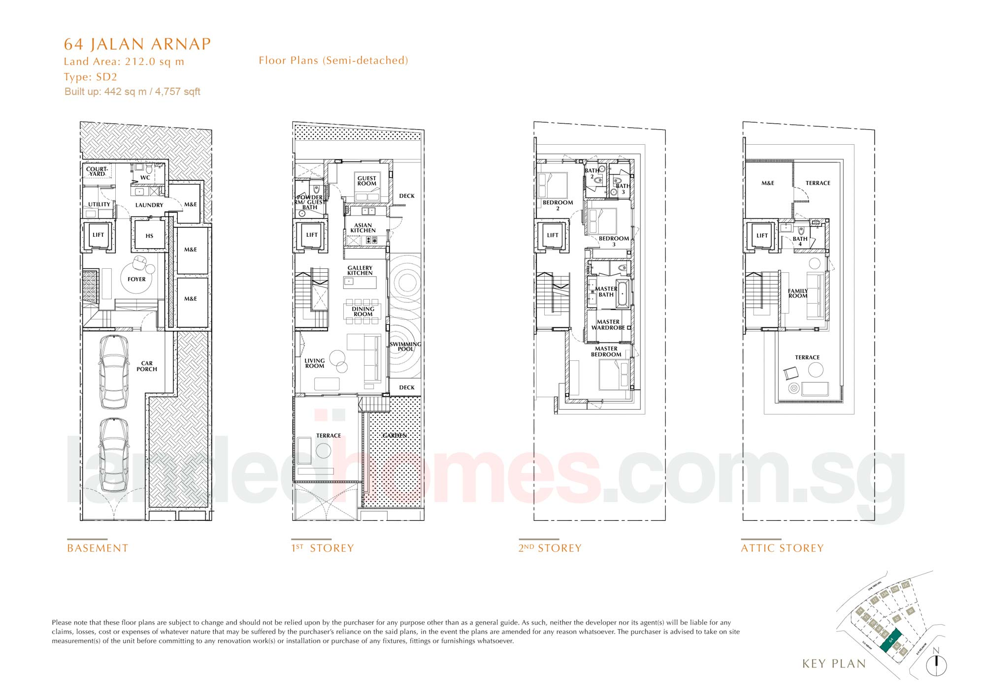 House 64 One Tree Hill Collection floor plan