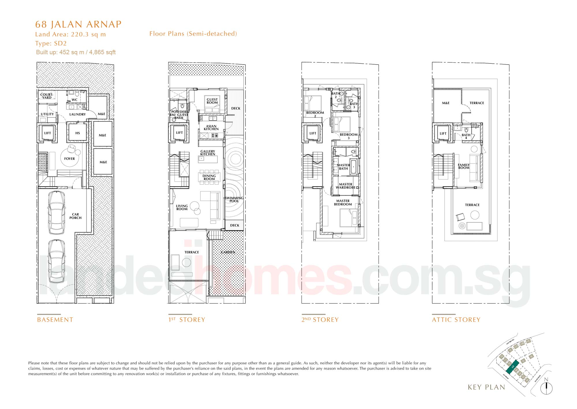 House 68 One Tree Hill Collection floor plan