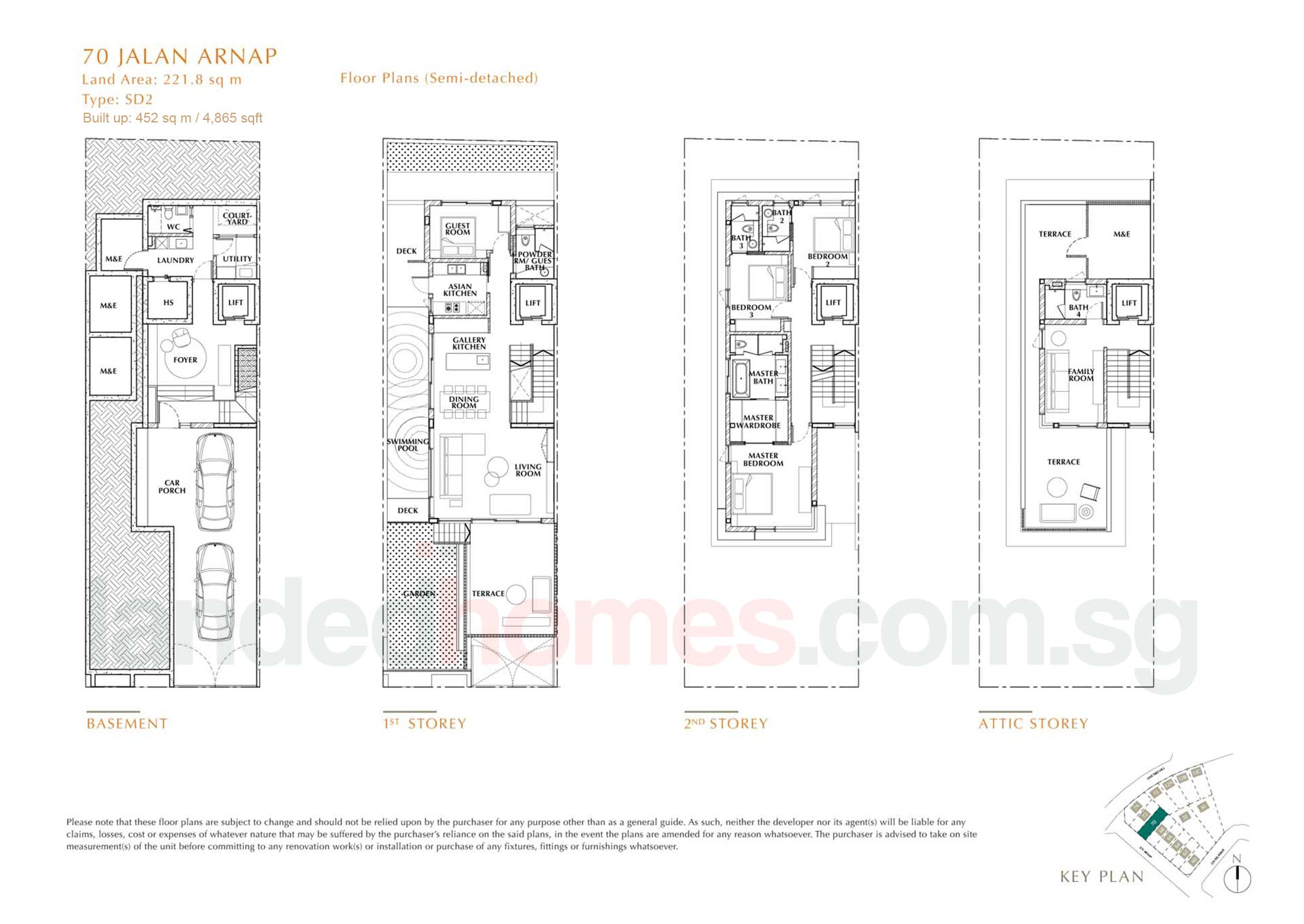 House 70 One Tree Hill Collection floor plan