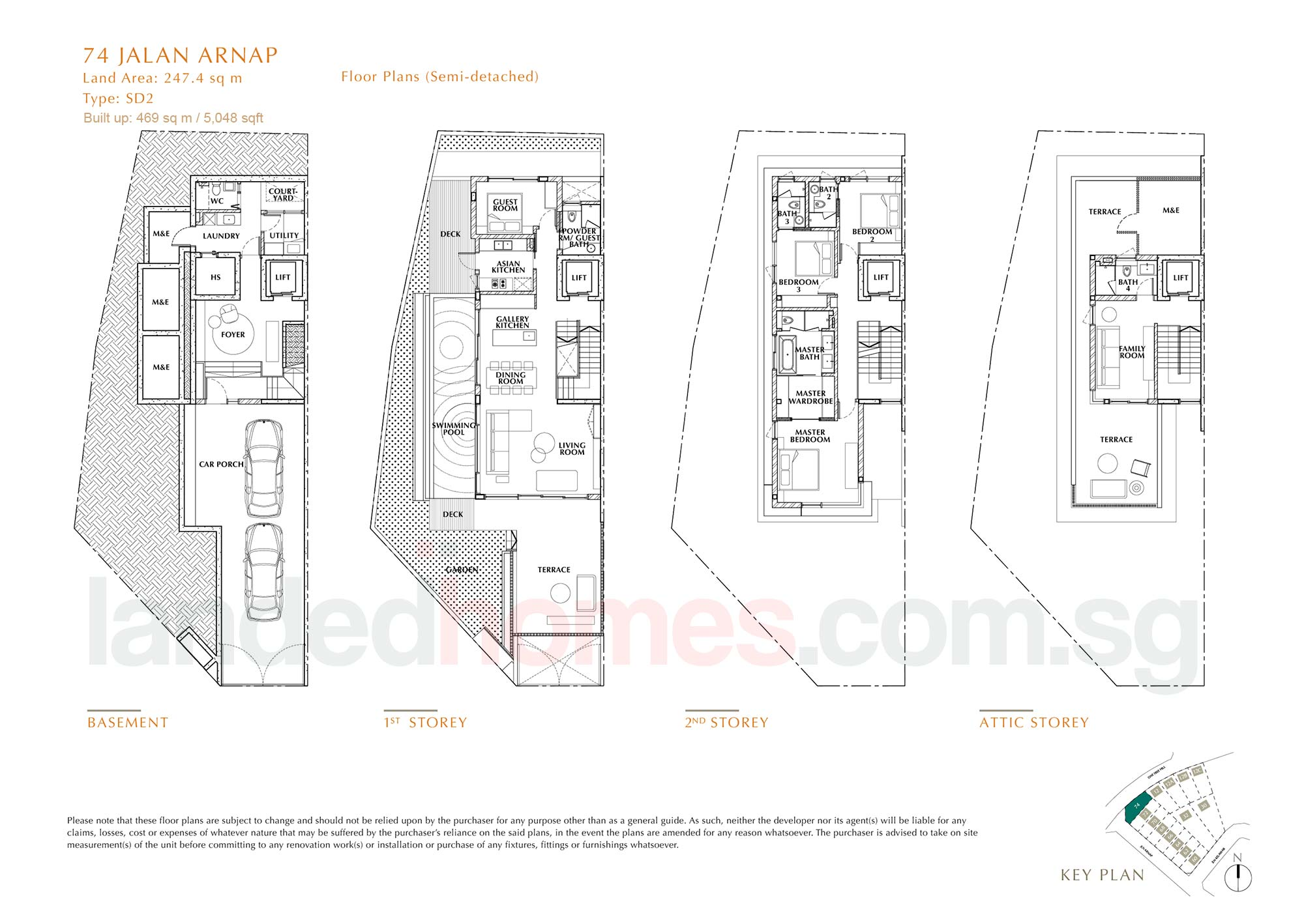 House 74 One Tree Hill Collection floor plan