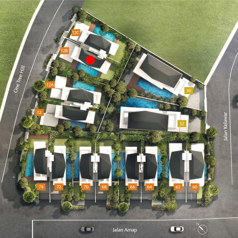 site plan for house 12B one tree hill collection